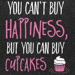 Cant buy happiness, but cupcakes kan ikke købe lykke, men cupcakes T-shirts - Snapback Cap