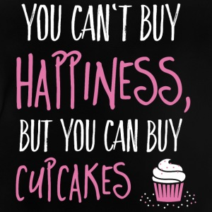 Cant buy happiness, but cupcakes kan ikke købe lykke, men cupcakes T-shirts - Baby T-shirt