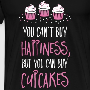 Cant buy happiness, but cupcakes kan ikke købe lykke, men cupcakes Sweatshirts - Herre premium T-shirt