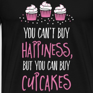 Cant buy happiness, but cupcakes kan ikke købe lykke, men cupcakes Krus & tilbehør - Herre premium T-shirt