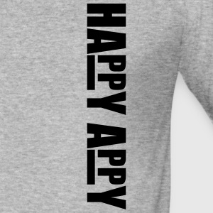 Happy appy lettering Hoodies & Sweatshirts - Men's Slim Fit T-Shirt