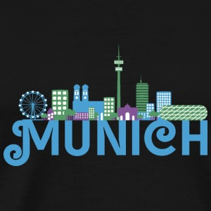 Skyline of Munich Other - Men's Premium T-Shirt