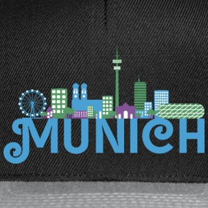 Skyline de Munich Sweat-shirts - Casquette snapback