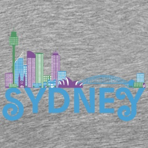 Skyline of Sydney Sweatshirts - Herre premium T-shirt