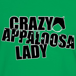 Crazy Appaloosa Lady Bags & Backpacks - Men's Ringer Shirt