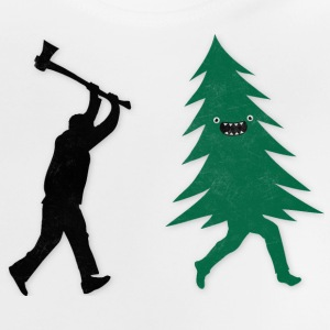 Funny Christmas Tree Hunted by lumberjack Humor Tee shirts - T-shirt Bébé