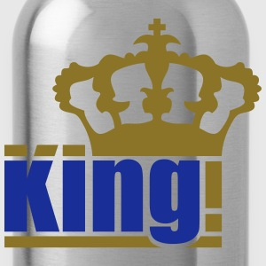 gold king the king text design logo cool chef T-Shirts - Water Bottle