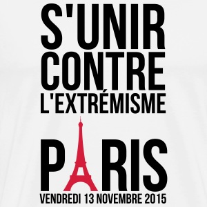 United against extremism Paris 13 November 2015 Long Sleeve Shirts - Men's Premium T-Shirt