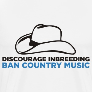 Gelieve stopt incest! Verbiedt Country Music! Kookschorten - Mannen Premium T-shirt