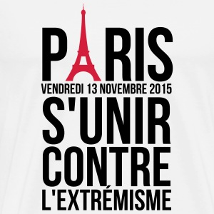 United against extremism Paris France Tops - Men's Premium T-Shirt
