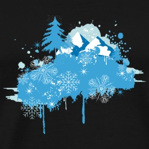 wintry landscape Graffiti Other - Men's Premium T-Shirt