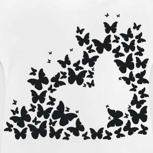 A silhouette of butterflies Long Sleeve Shirts - Baby T-Shirt