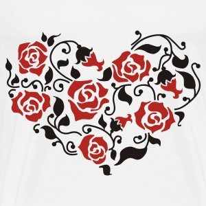 Heart of roses Bags & Backpacks - Men's Premium T-Shirt