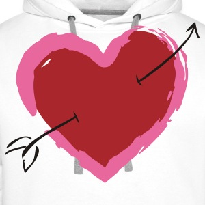 Heart with arrow Polo Shirts - Men's Premium Hoodie