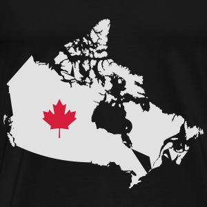 Kanada, Canada Map Sports wear - Men's Premium T-Shirt
