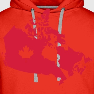 Kanada, Canada Map Tabliers - Sweat-shirt à capuche Premium pour hommes
