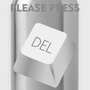Please press DELATE T-Shirts - Water Bottle