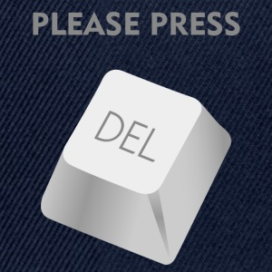 Please press DELATE T-Shirts - Snapback Cap