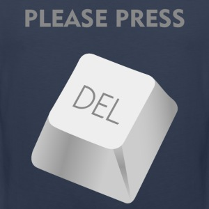 Please press DELATE T-Shirts - Men's Premium Tank Top