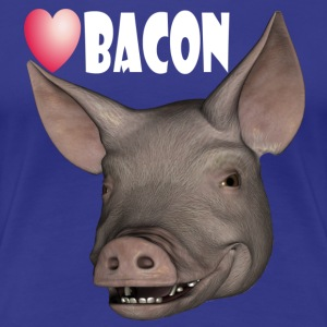 Love bacon - Premium T-skjorte for kvinner