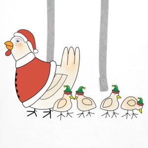 Christmas chicken bib - Men's Premium Hoodie