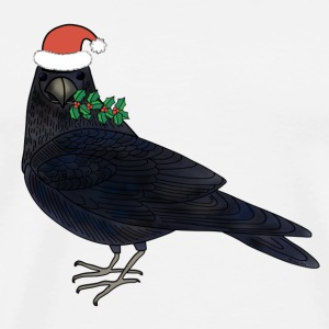 Christmas raven mug - Men's Premium T-Shirt