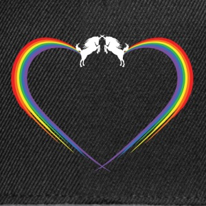 unichorn rainbow fart heart T-Shirts - Snapback Cap