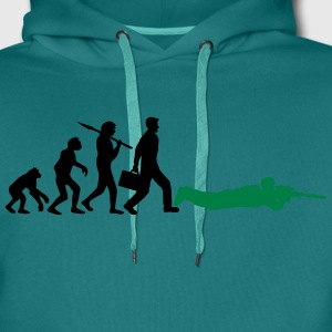 Evolution shoot man sniper soldier sniper gamer ca T-Shirts - Men's Premium Hoodie