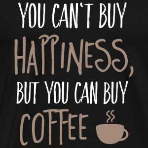 Cant buy happiness, but coffee kan ikke købe lykke, men kaffe Toppe - Herre premium T-shirt