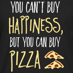 Cant buy happiness, but pizza Hoodies & Sweatshirts - Men's Premium Longsleeve Shirt