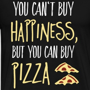 Cant buy happiness, but pizza Sweatshirts - Herre premium T-shirt