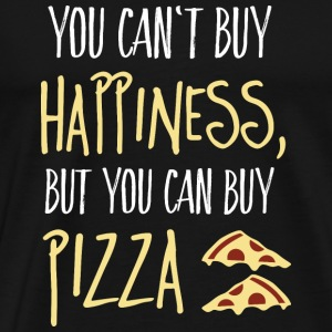 Cant buy happiness, but pizza Bags & Backpacks - Men's Premium T-Shirt