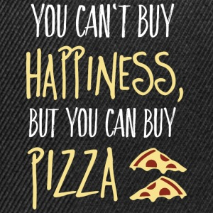 Cant buy happiness, but pizza Taschen & Rucksäcke - Snapback Cap