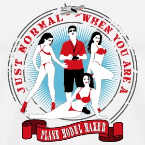 just_normal_when_you_are_a_plane_modelma Tassen & Zubehör - Männer Premium T-Shirt