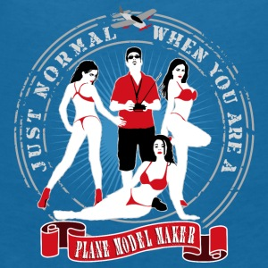 just_normal_when_you_are_a_plane_modelma Baby Lätzchen - Frauen T-Shirt mit V-Ausschnitt