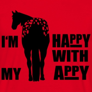 Happy with my Appaloosa  Aprons - Men's T-Shirt