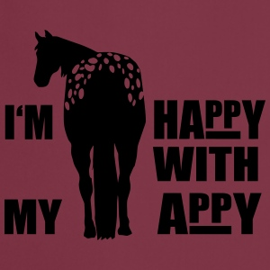 Happy with my Appaloosa Manches longues - Tablier de cuisine