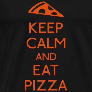 Keep Calm Pizza Toppar - Premium-T-shirt herr
