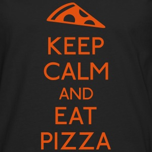 Keep Calm Pizza Topper - Premium langermet T-skjorte for menn