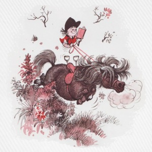 Thelwell - Pony outside in nature Magliette - Cappello con visiera