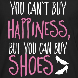 Cant buy happiness, but shoes Tops - Männer Premium Langarmshirt