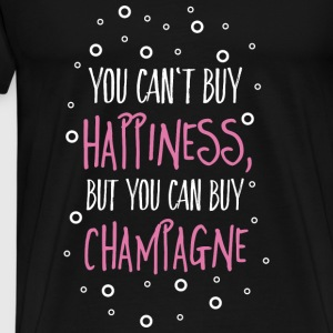 Cant buy happiness, but champagne Tops - Männer Premium T-Shirt