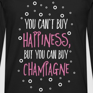 Cant buy happiness, but champagne Tops - Männer Premium Langarmshirt