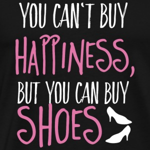 Cant buy happiness, but shoes Bags & Backpacks - Men's Premium T-Shirt