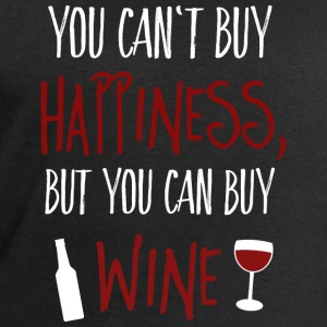 Cant buy happiness, but wine Mugs & Drinkware - Men's Sweatshirt by Stanley & Stella