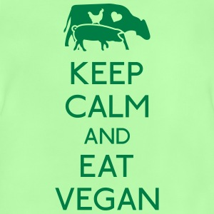 Keep Calm eat vegan hålla lugn äta vegan T-shirts - Baby-T-shirt