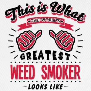 weed smoker worlds greatest looks like - Baseball Cap