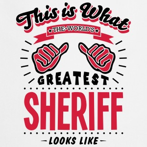sheriff worlds greatest looks like - Cooking Apron