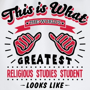religious studies student worlds greates - Drawstring Bag