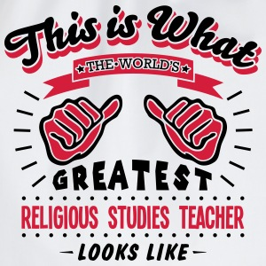 religious studies teacher worlds greates - Drawstring Bag